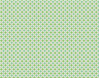 Cozy Christmas Fabric  - Lori Holt - Green, Blue, White, Red - Quilting, Clothing, Crafts - Cotton Yardage - Fat Quarter, Half, By the Yard