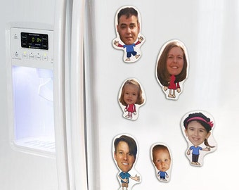 ME Magnets, Family, Friends, Funny, Cartoon-look, Custom Magnets- 3 to 5 inch, Handmade, Sold in Mixed Bundles