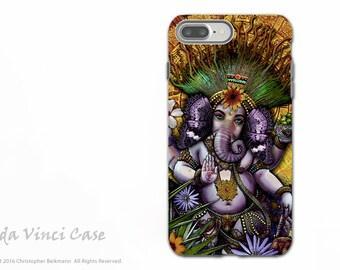 Ganesha Maya - iPhone 7 PLUS - 8 PLUS Tough Case - Dual Layer Protection - Hindu Mayan Ganesh artwork