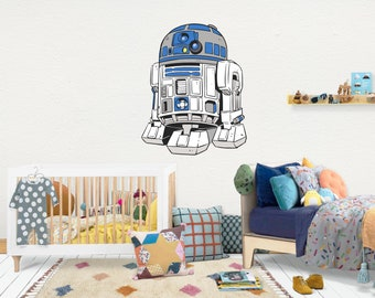 RD2 Star Wars / Wall Vinyl Decal Sticker / Nursery Baby Toddler Kid Children Room / Decor Decoration / Gift Present /Baby shower