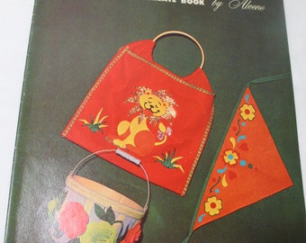 A Flair With Felt, 1966 Craft Instruction Book by Aleene