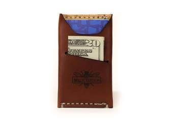 Colonial Drive Minimalist Leather Wallet - American Brown