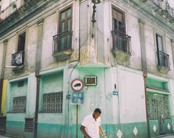 Streets of Havana - Photography Fine Art Print, Decor, Urban Decay, Old Havana Print, Travel Photography, Cuban Art, Urban Art, Havana Art