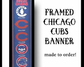 CHICAGO CUBS Banner•Sports Banner•Baseball Banner•Sports Memorabilia