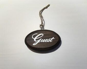 """Guest sign for doorknob (3x5"""")"""