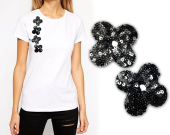 Iron On Flowers Patch Appliques, Hot Fix Flowers Appliques for DIY Fashion