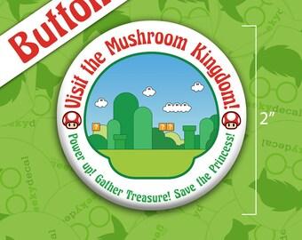 Button - Super Mario Mushroom Kingdom