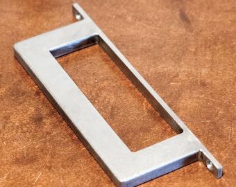 """1"""" x 1/2"""" Rectangle Steel Sliding Barn Door Handle - Low profile base plate - Loft Door, Industrial Door 10"""" - 18"""""""