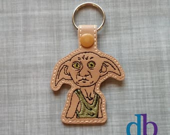 Dobby embroidered key fob