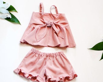 Pink tie top outfit - Toddler