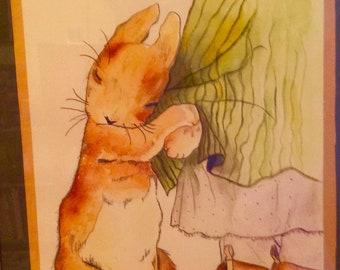 Mama's Little Bunny Watercolor