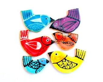 Tweet Birds Handmade Ceramic Mosaic Tile Pack