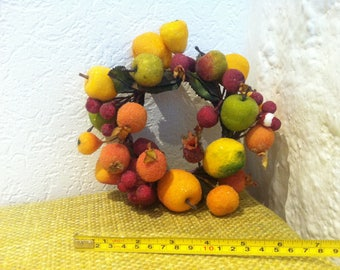 Vintage wreath of flowers, handmade flowers berries wreath accessories or all kinds of decoration