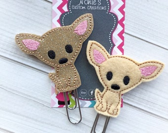 Chihuahua Paper Clip- Chihuahua Paperclip - Planner Accessories - Chihuahua Feltie- Planner Paper Clips - Planner Accessory