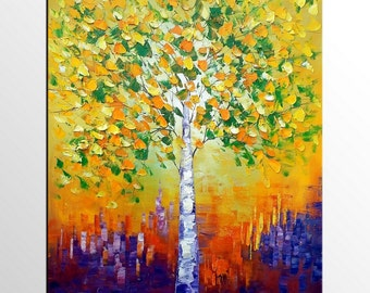 Oil Painting, Wall Art, Canvas Painting, Tree Painting, Canvas Art, Abstract Art, Large Painting, Abstract Painting, Large Art, Framed Art