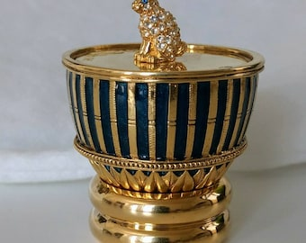 Faberge mini easter egg with rabbit