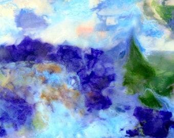 Original art, landscape painting, original encaustic, digital download, instant download