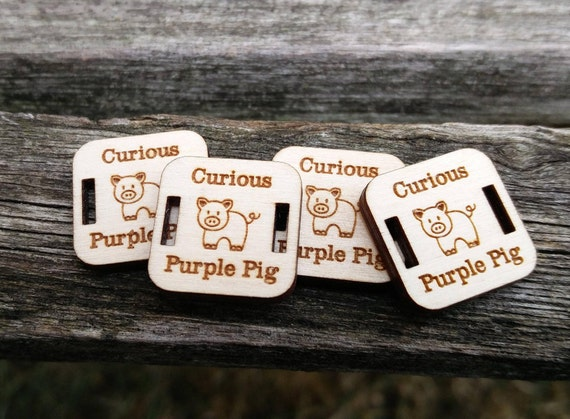 """200 """"YOUR LOGO"""" Tags.  Custom Store Tags. Crochet Tag, Laser Engraved Wood. Custom Orders Welcome. Sewing, Business Card. Button Tag"""