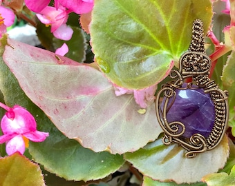 Amethyst and Coiled Copper