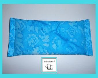 Yoga Eye Pillow, Eye Pillow, Lavender Eye Pillow, Ocean Blue Batik, Relaxation Gifts, Eye Compress, Meditation, Savasana Eye Pillows
