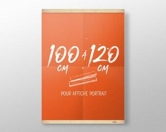 Grip Poster sur mesure de 100 à 120 cm | Porte affiche en bois, Cadre sérigraphie, Cadre poster, Cadre photo, Cintre affiche film