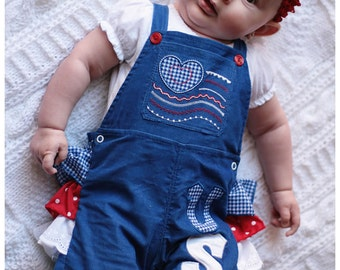 Lily Bird Studio PDF Sewing Pattern - Overall / Romper/ Jumpsuit for babies - newborn up to 24 months