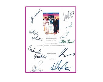 The Birdcage Movie Script Rpt Signed - Robin Williams, Nathan Lane, Gene Hackman, Dianne Wiest, Hank Azaria