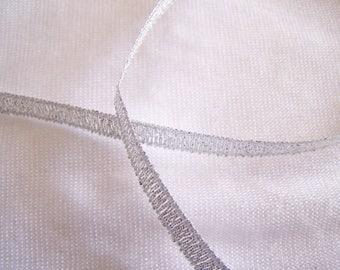 Organza Ribbon, Silver (O-S)