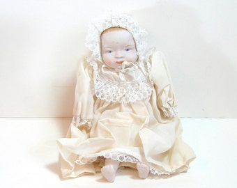 "Handmade 10"" Antique Bisque Baby Doll"