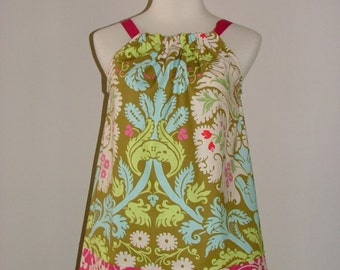 Pillowcase DRESS or TOP - Amy Butler - Belle Acanthus - Made in ANY Size - Boutique Mia