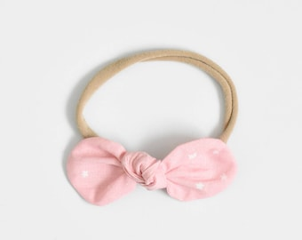 Pink Baby Headband, Bow Headband, Cute Baby Bow, Kids Hair Accessories, Toddler Headband, Newborn Headband