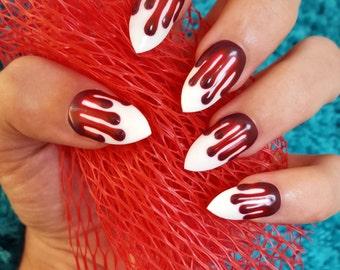 Blood nails stiletto nails-021515-