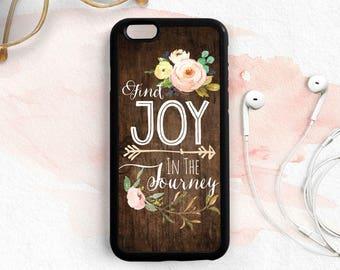 Find Joy In The Journey Chalkboard Adventure Quote Case iPhone 7 5s 5c 5 6 Plus Case, Samsung Galaxy S6 S7 Case, Samsung Note 5 Case Qt98