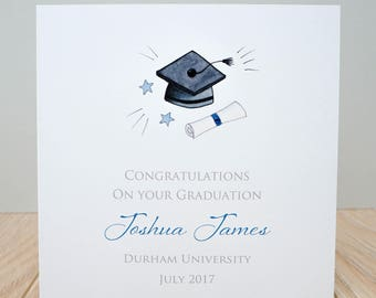 Personalised Graduation Card - Handmade Graduation Card - On your graduation card - Graduation Congratulations Card - Graduation Cards