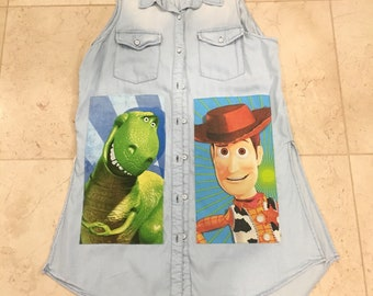 Toy Story Sleeveless Duster Top