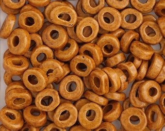 100 Pieces Greece Ceramic Washer Beads - Ochre 6x2.5mm (3420612)