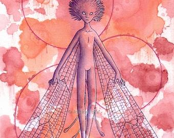 Fantasy Art Print- Spirit - 5x7 Open Edition Print - Fantasy Surreal Faerie Art