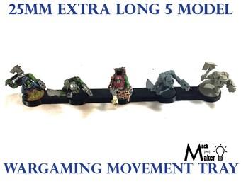 XXL | Warhammer 40000| Warhammer 40K |  25mm Base | 5 Model | Movement Tray |  Ork| Tau | Tyranids | Eldar | Necron | wargaming | Aeldari