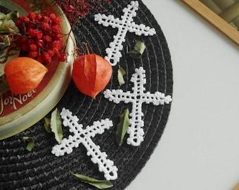 Cross ornament Crochet ornaments Christmas decor Religious decor elements Christmas decor Easter decor Baptism ornament