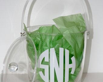Acrylic Ice Bucket Monogrammed