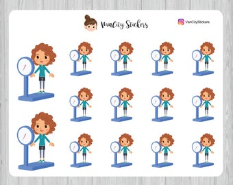 Scale Stickers, Fitness Stickers, Stacy Stickers