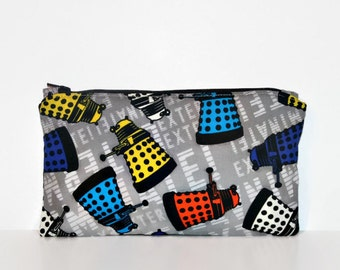 Dalek Toss Extra Small Wet Bag, Cloth Pad Wet Bag, Reusable Waterproof Bag, Beach Bag, Pool Bag, Makeup Bag