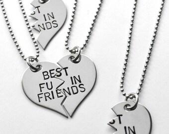 Best Friends necklace - Best F'in Friends - Besties - Choice of chain!