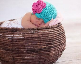 Blue hat girls, baby hat, newborn girl hat, newborn girls hat, girls hat, baby girl hat, newborn newborn hat, crochet ,baby girl hat,