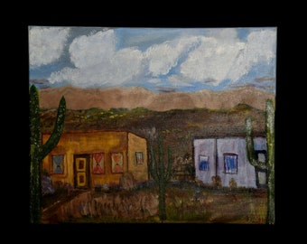 Southwest Painting, 16 x 20 inch, Southwestern Decor, Southwest Art, Original Landscape Art, Medium Painting, Western Art, Desert Art