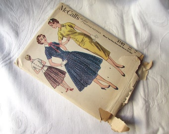 1955 McCall's Dress Pattern Number 3182 Womens Miss Size 16 I Love Lucy