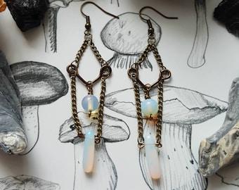 The Goddess's Opalite Gemstone Earrings