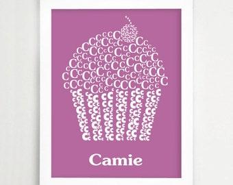 Name Poster for Nursery - Modern Nursery Letters - Nursery Alphabet Letter - Name Print