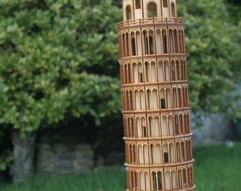 Laser cut Leaning Tower of Pisa 3mm Ply wood kit