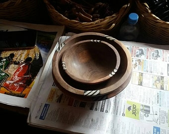 Africa handmade Wooden bowl's